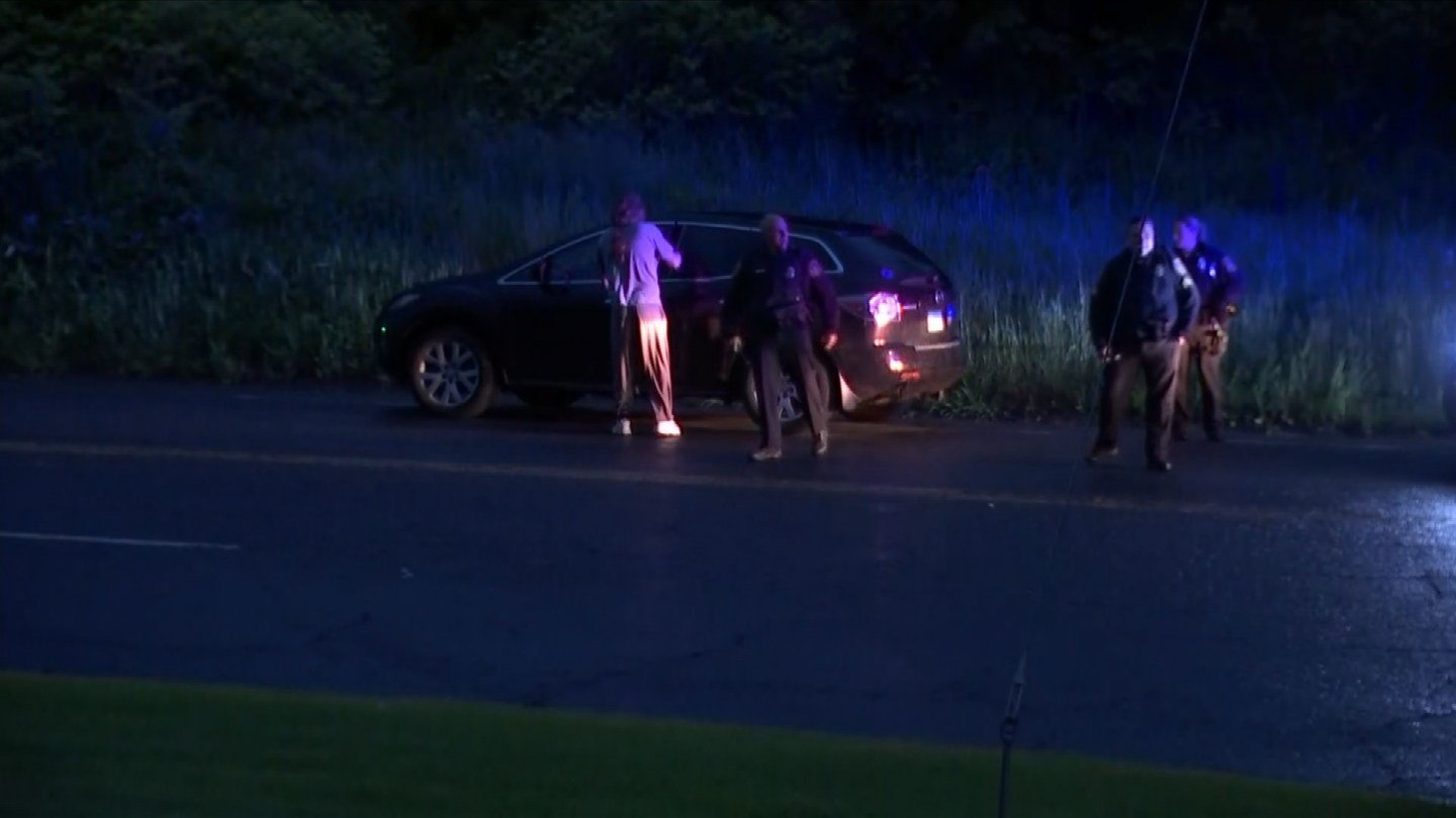 Cromwell police recovered a stolen vehicle early Monday morning. (WFSB photo)