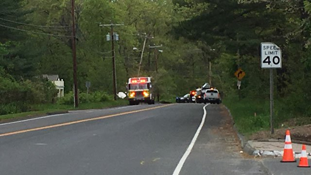 Route 4 in Farmington is closed due to crash on Monday morning. (WFSB)