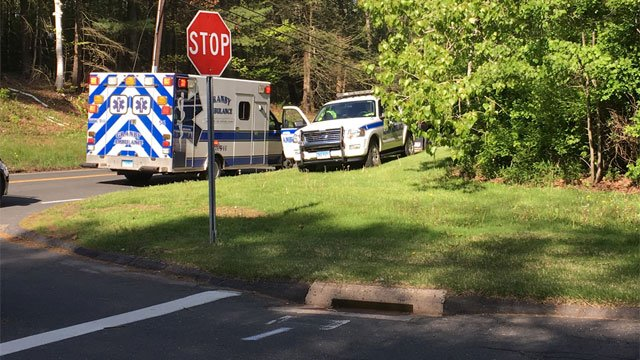 An ambulance was involved in a crash near Granby/East Granby town line. (WFSB)