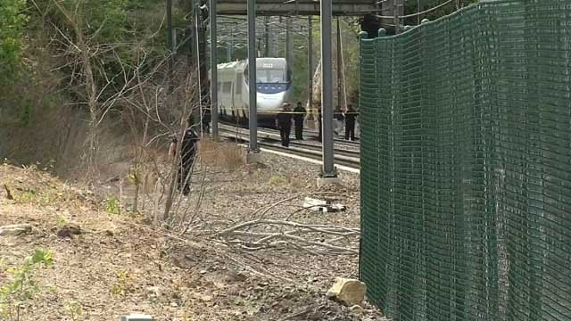 A man was struck and killed by a train in Branford on Tuesday (WFSB)