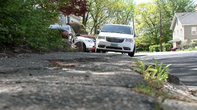 Illegally parked cars are making a Waterbury neighborhood very dangerous. (WFSB)