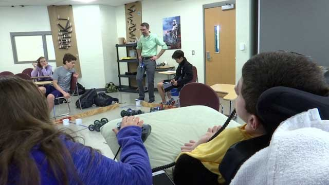 Wethersfield students helped create a device for a peer with cerebral palsy (WFSB)