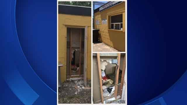 Thieves broke in to a concession stand in Milford (WFSB)