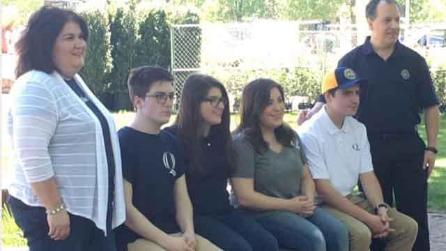 The Ciacciarella quadruplets are all headed to Quinnipiac University in the fall. (WFSB)