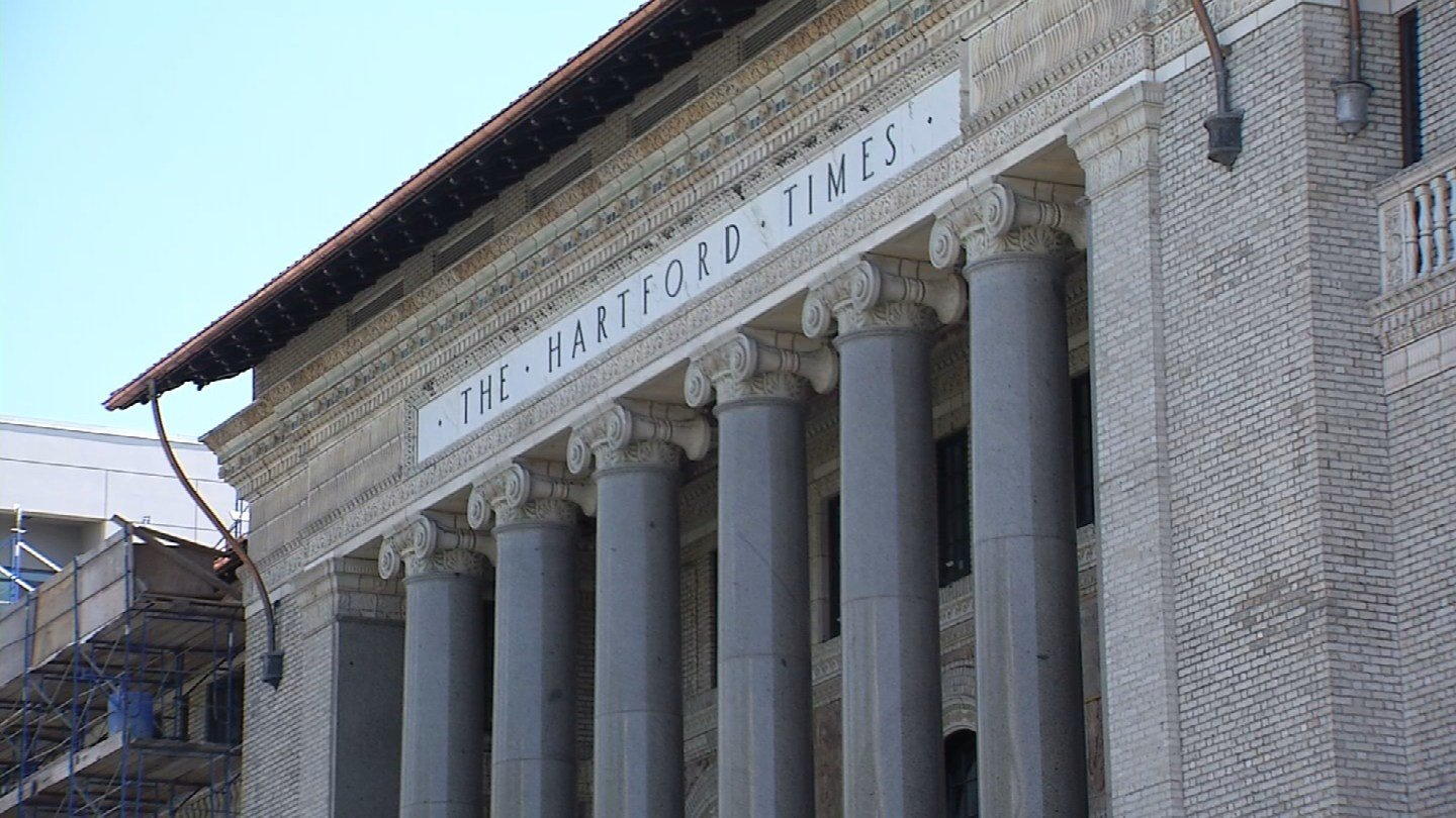 The historic Hartford Times Building has become part of the UConn Hartford campus. (WFSB photo)