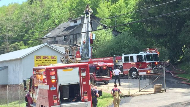 Firefighters battled a fire in Torrington on Thursday afternoon. (WFSB)