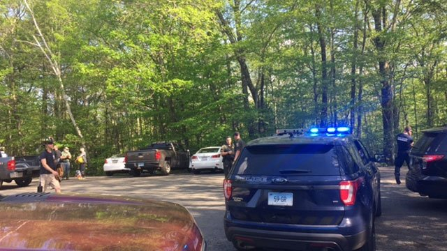 A man fell at Enders State Forest in Granby on Thursday afternoon. (WFSB)