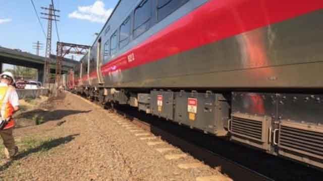 A minor train derailment happened in Rye, NY on Thursday (MTA)