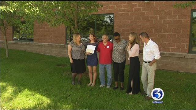 Cheerleading scholarship was given in honor of Nina Poeta. (WFSB)