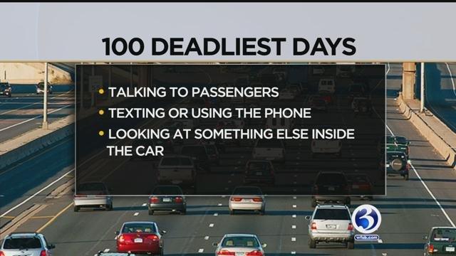 The 100 deadliest days on the roads begins Memorial Day weekend. (WFSB)