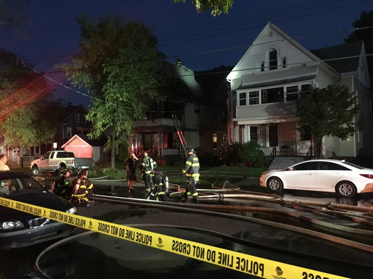 Firefighters responded to a fire that left seven people displaced. (WFSB)