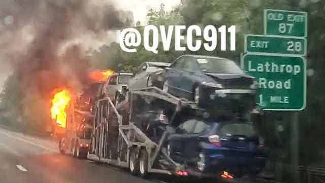 A truck fire closed I-395 south (Quinebaug Valley Emergency Communications)