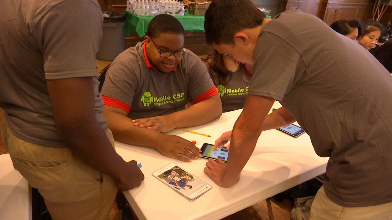 Students showcase app designs at Trinity (WFSB)