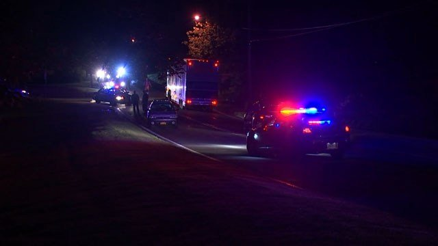 A person was hit by a car in East Granby on Tuesday night (WFSB)