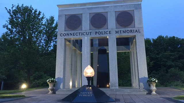 The Connecticut Law Enforcement Memorial. (WFSB)