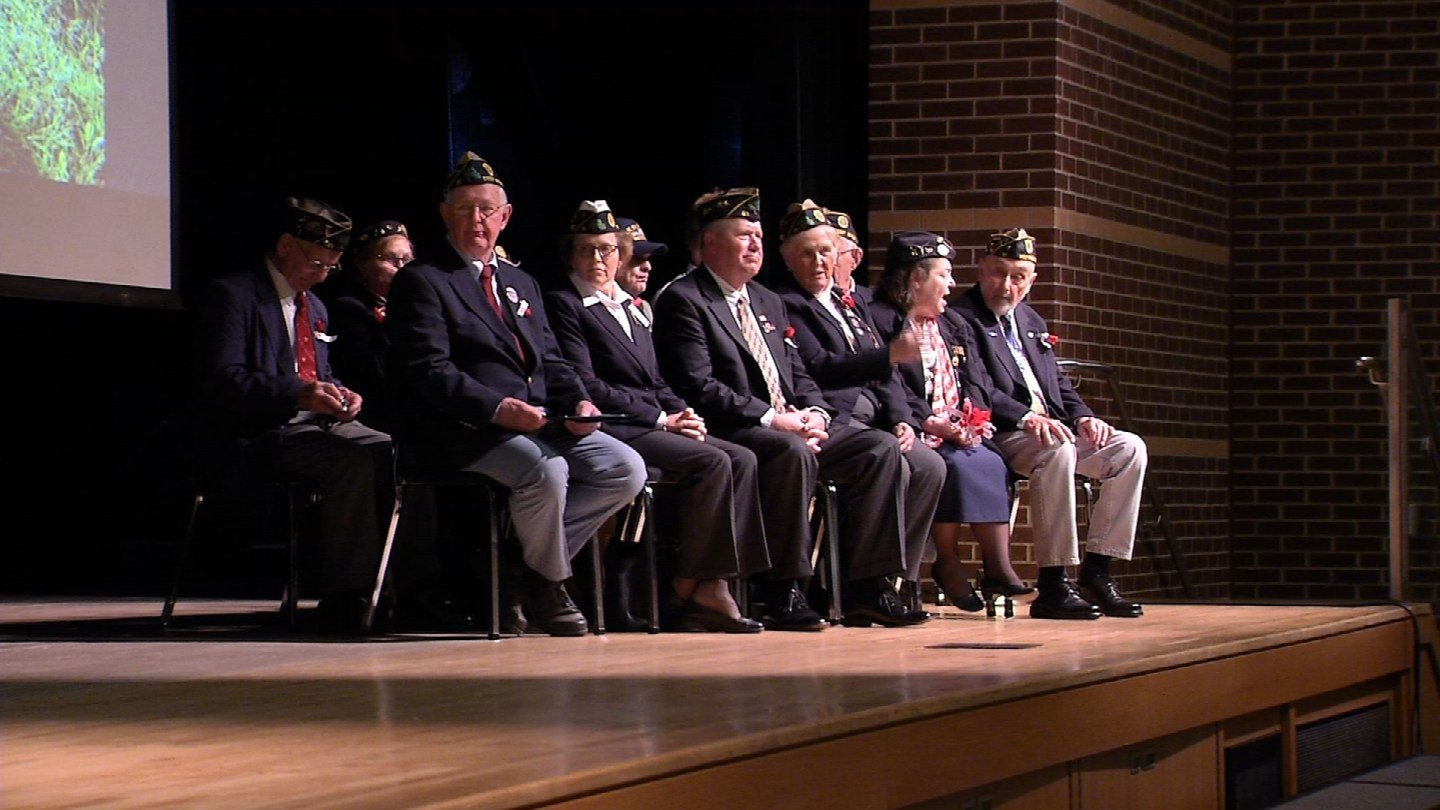 Families of those who died in service to the country were honored at a high school in Deep River. (WFSB)