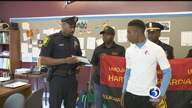 David Witter is one step closer to becoming an officer. (WFSB)