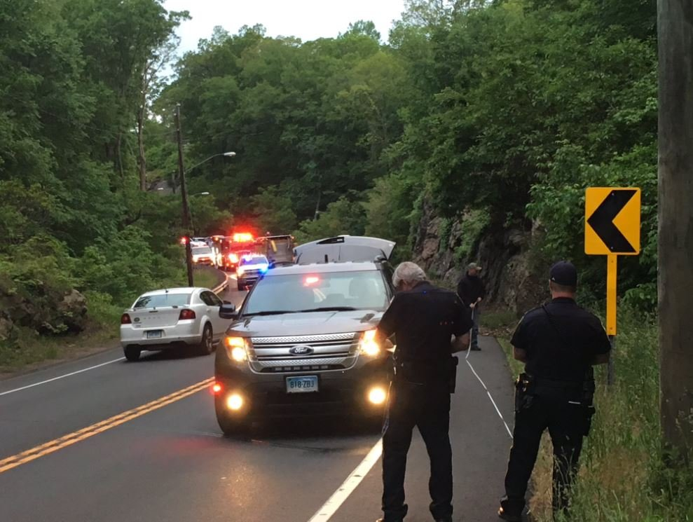 Crews on scene of an accident in Portland on Route 66 are investigating the events that led up to an accident. (WFSB)