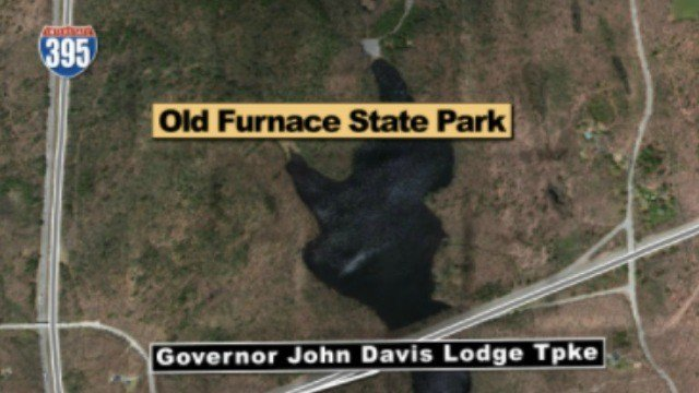 A man fell at least 150 feet Sunday afternoon from Ross's Cliff at Old Furnace State Park in Danielson (WFSB)