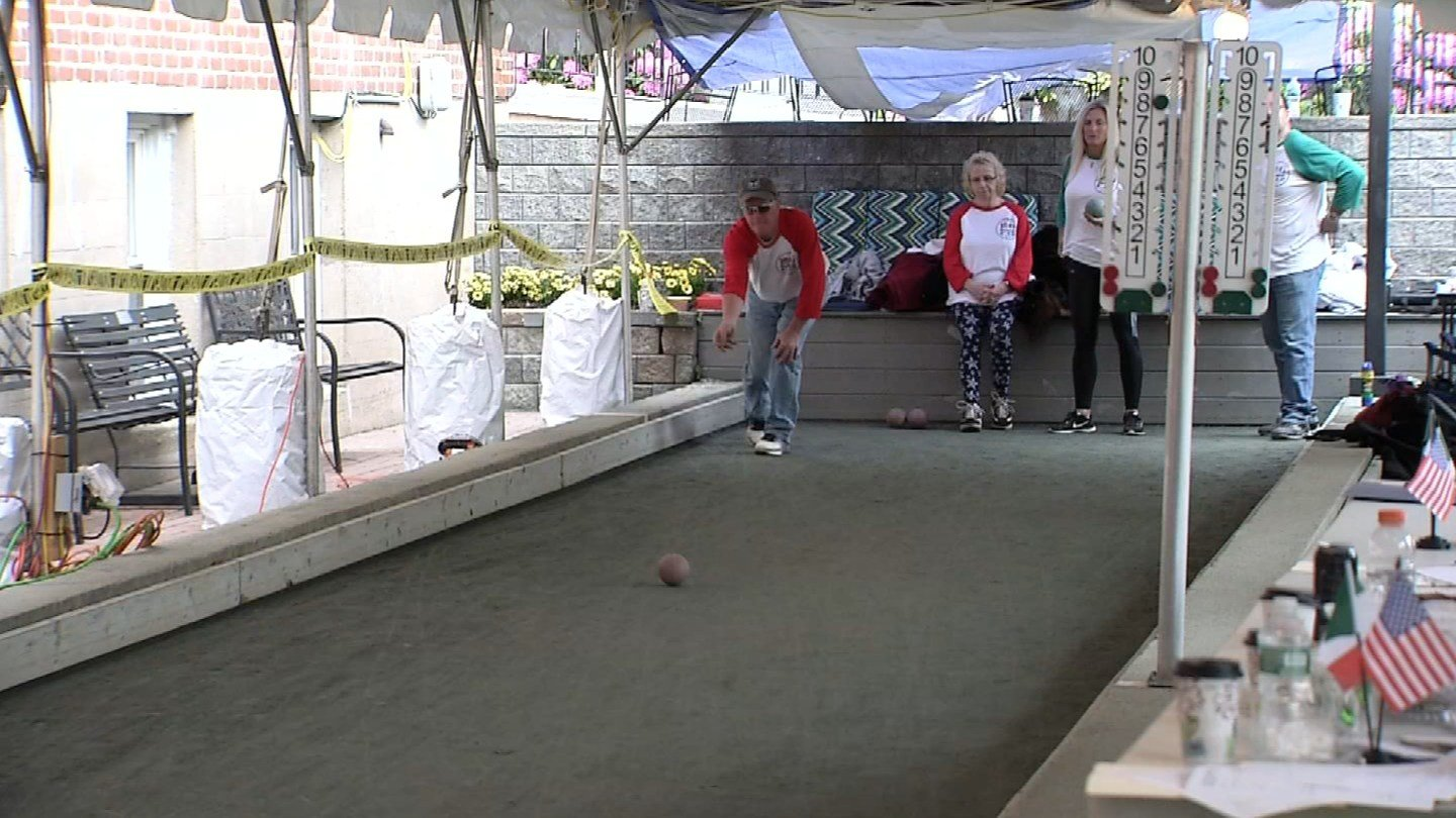 Members of the Prince Thomas Savoy Club in Avon aimed at breaking a bocce world record Sunday into Monday. (WFSB)