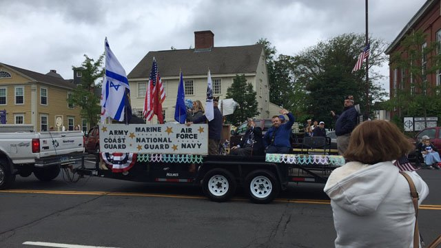 The Middletown Memorial Day parade went on as scheduled on Monday. (WFSB)