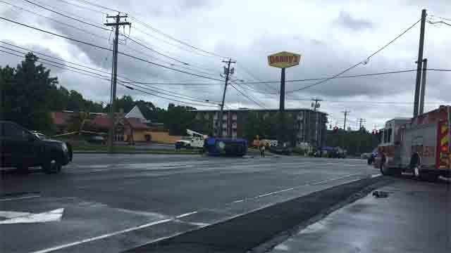 A man was seriously injured in a crash in West Haven on Monday. (WFSB)