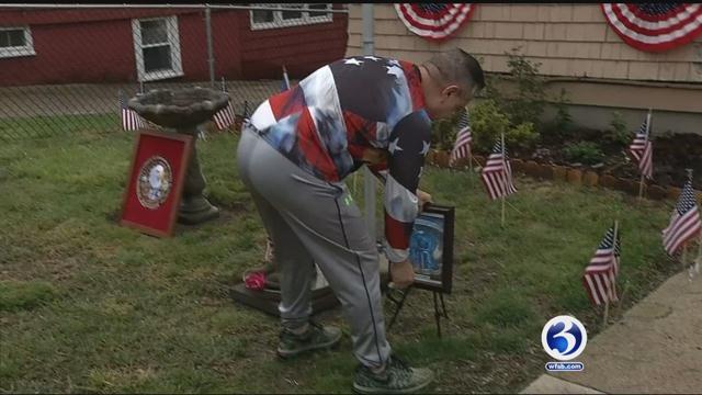Veteran creates memorial in front yard
