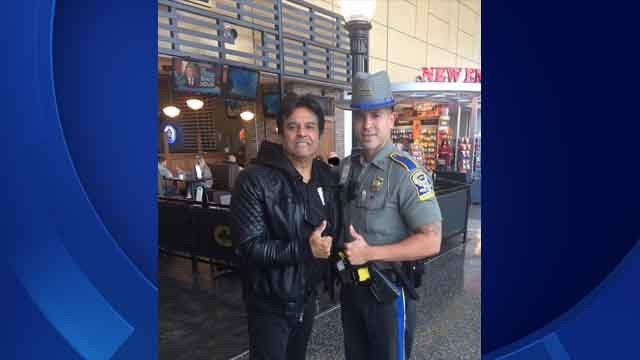 Erik Estrada was spotted at Bradley International Airport on Monday (CT State Police)