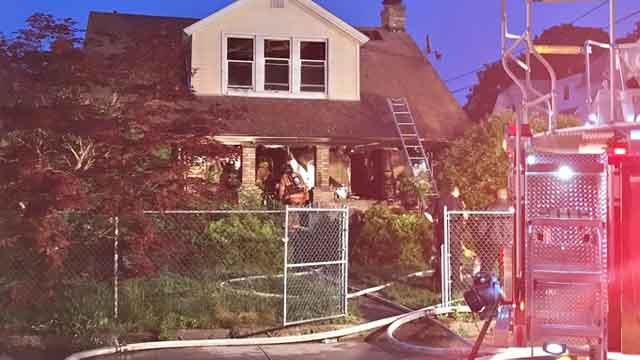Three dogs were killed in a house fire in Norwich on Tuesday evening (WFSB)