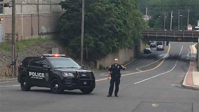 Police had closed the area of Saw Mill Road on Wednesday afternoon (WFSB)
