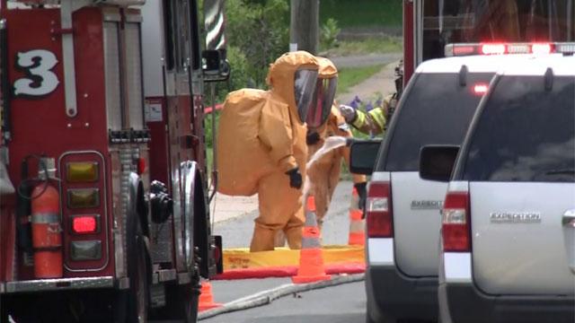 Crews were on scene of leak in East Hartford on Friday morning. (WFSB)