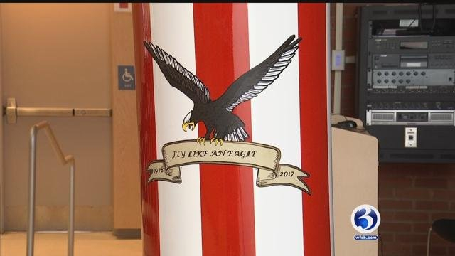 A time capsule was buried at  Wilcox Technical High School in Meriden on Friday. (WFSB)