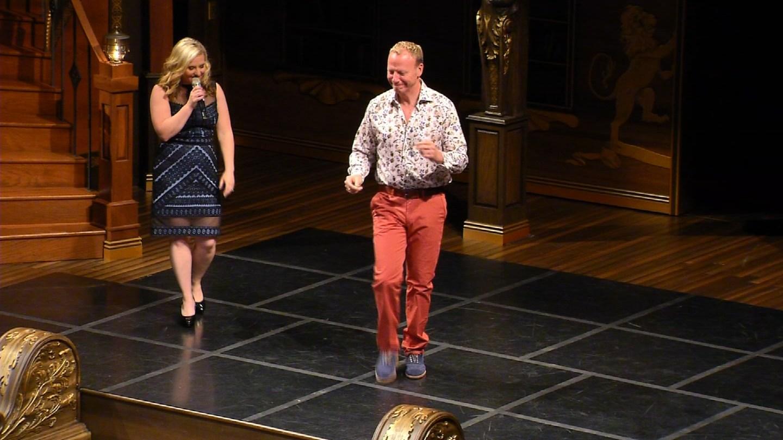 Channel 3's Kara Sundlun and Scot Haney at the Capital Catwalk. (WFSB)
