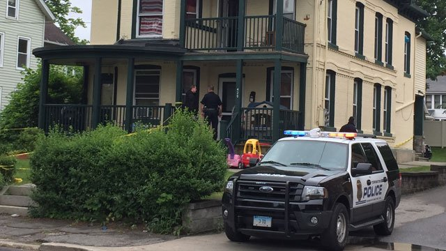 Police were at a home on South Main Street in Torrington. (WFSB)