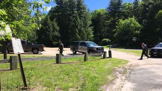 A woman was scratched by a bear in Simsbury on Wednesday (WFSB)
