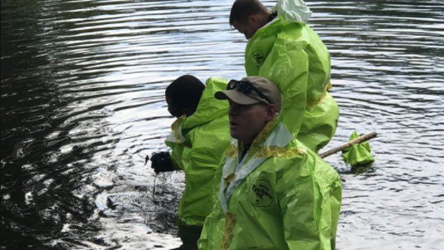 DEEP, CT State Police dive team and police are searching a Greenwich park for human remains on Thursday. (Greenwich PIO)