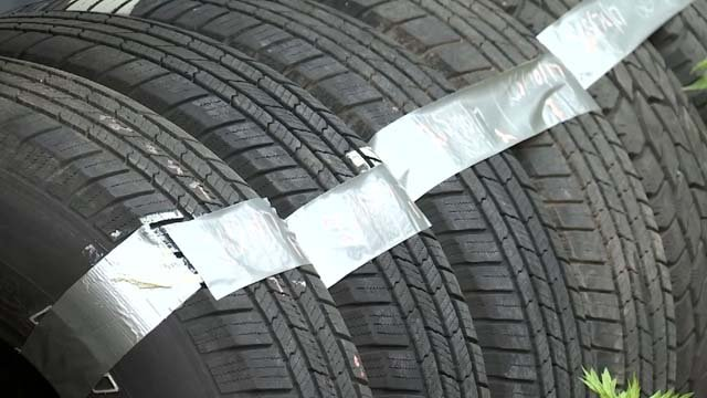 Screws are puncturing tires along a busy road in Higganum. (WFSB)
