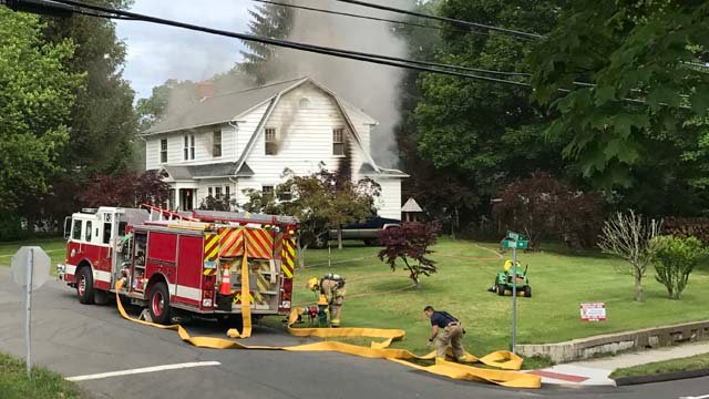 Pets were pulled from a house fire on Todd Road in Southington. (Gary Saucier/iWitness photo)