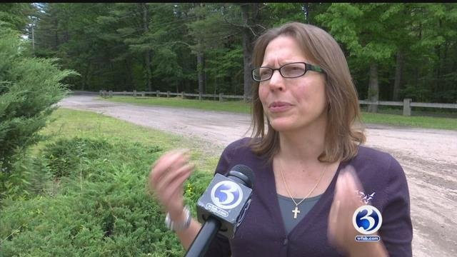 Annie Hornish from the U.S. Humane Society reacted to the bear being euthanized in Simsbury this week. (WFSB)