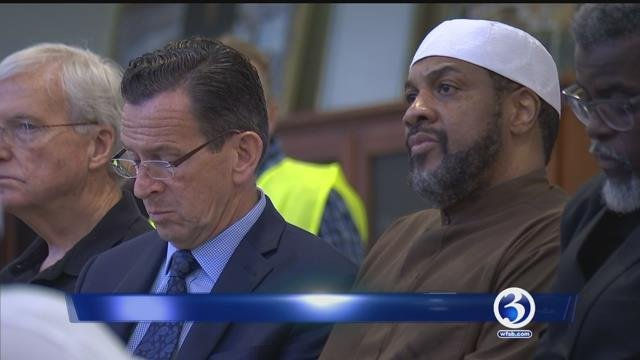 The governor attended event in Berlin hosted by faith leaders. (WFSB)