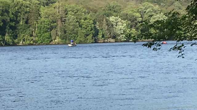 Emergency crews are searching the CT River for a missing swimmer (WFSB)