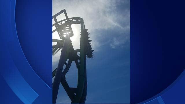 The Joker ride at Six Flags got stuck on Sunday (Allie Velta)