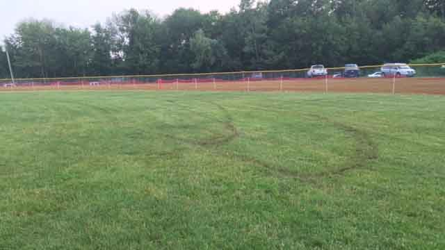 Vandals targeted fields in Wolcott for the second time this year (WFSB)