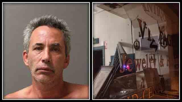 Sean Morissette went on a rampage inside a Putnam antique store named (Putnam Police)