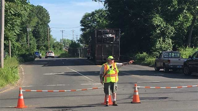 A transformer fire in North Haven is causing traffic issues (WFSB)