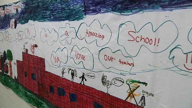 Teachers and staff were remembering the good times at Pleasant Valley School in Groton. (WFSB)