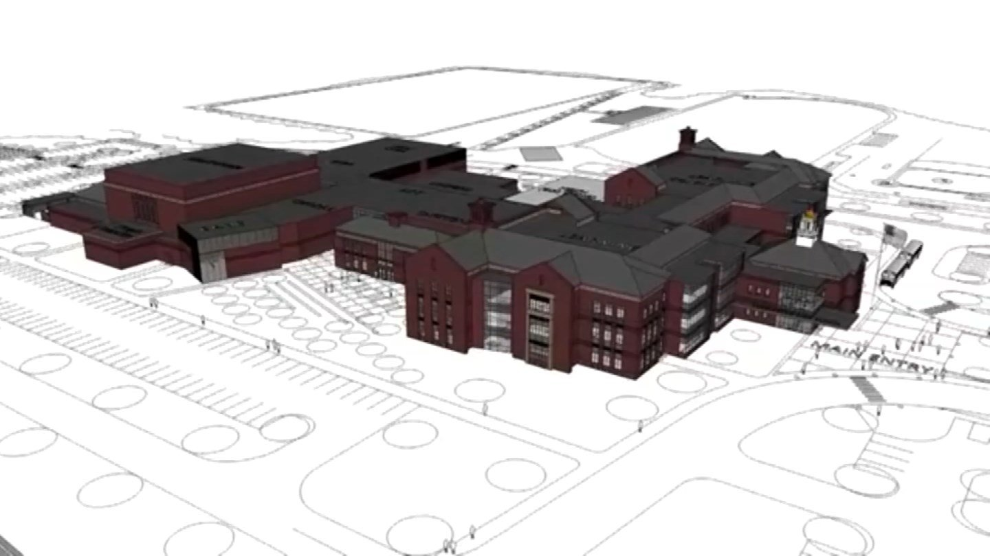A plan to renovate Farmington High School is in the hands of voters. (Farmington Schools photo)