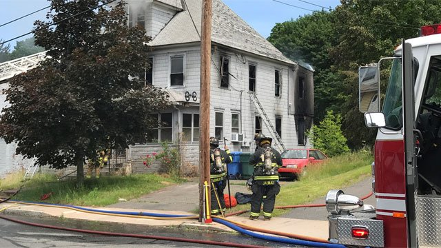 Firefighters knocked down house fire in Manchester on Thursday. (WFSB)