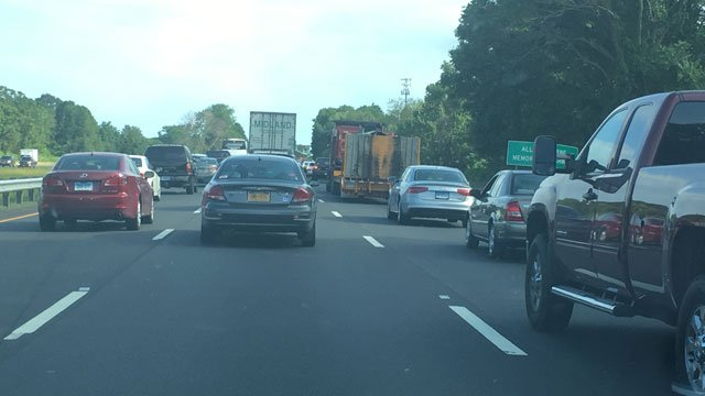 Traffic was backed up about a half mile from exit 15  (WFSB)