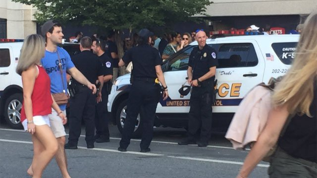Huge crowds and extra security were at the Congressional Ballgame at Nationals Park in Washington D.C. (WFSB)